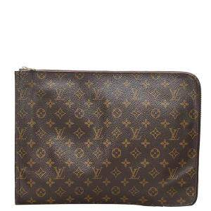 Louis Vuitton Brown Monogram Canvas Poche Documents Portfolio Clutch Bag