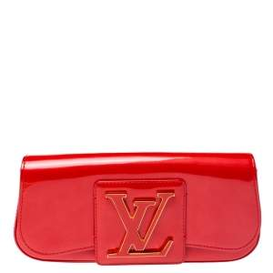 Louis Vuitton Rouge Grenadine Vernis Sobe Clutch
