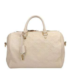 Louis Vuitton White Monogram Empreinte Speedy 30 Bag