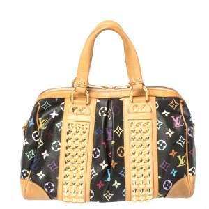 حقيبة لوى فيتون كاونترى كانفاس مونوغرامية متعددة الألوان سوداء MM
