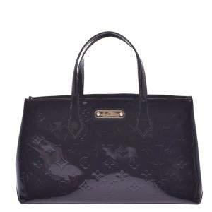Louis Vuitton Black Monogram Vernis Wilshire PM Bag