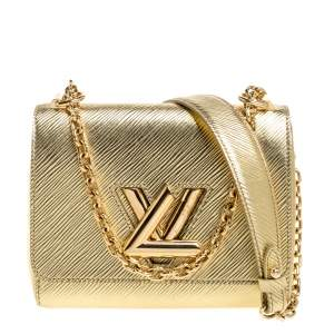 Louis Vuitton Metallic Gold Epi Leather Twist PM Bag