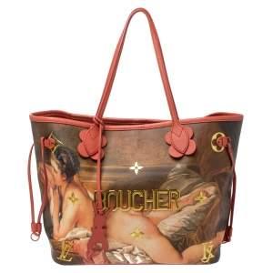 Louis Vuitton Multicolor Canvas Jeff Koons Boucher Neverfull MM Bag
