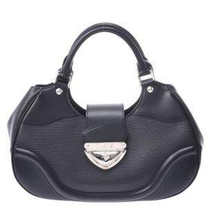 Louis Vuitton Black Epi Leather Sac Montaigne Bag