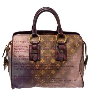 Louis Vuitton Monogram and Snakeskin Trim Limited Edition Richard Prince Graduate Jokes Bag