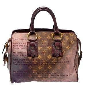Louis Vuitton Monogram and Snakeskin Trim Limited Edition Richard Prince Graduate Jokes Bag