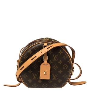 Louis Vuitton Monogram Canvas and Leather Boite Chapeau Souple Bag