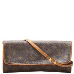 Louis Vuitton Brown Monogram Canvas Pochette Twin GM Bag