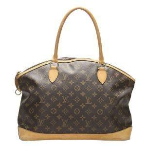 Louis Vuitton Brown  Monogram Canvas Lockit Horizontal bag