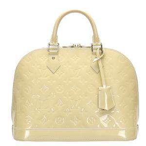 Louis Vuitton Cream Monogram Vernis Alma PM Bag