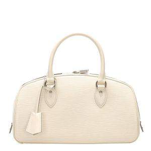 Louis Vuitton White Epi Leather Jasmine Bag
