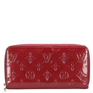 Louis Vuitton Red Monogram Vernis Zippy Wallet