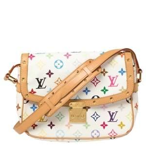 Louis Vuitton White Monogram Multicolore Canvas Sologne Bag