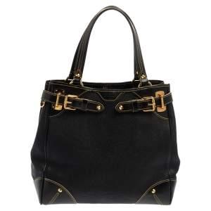 Louis Vuitton Black Suhali Leather Le Majestueux Bag