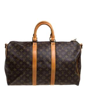 Louis Vuitton Monogram Canvas Keepall Bandouliere 45 Bag