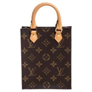 Louis Vuitton Monogram Canvas Petite Sac Plat Bag