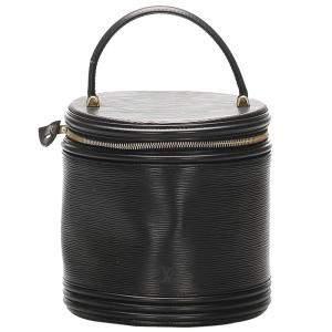 Louis Vuitton Black Epi Leather Cannes Vanity Case bag
