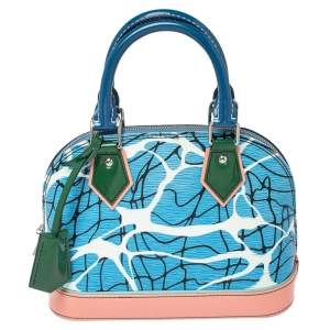 Louis Vuitton Aqua Print Epi Leather Alma BB Bag
