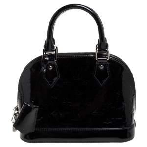 Louis Vuitton Black Magnetique Monogram Vernis Leather Alma BB Bag