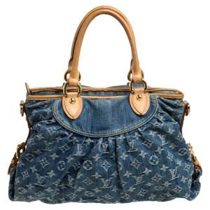 Louis Vuitton Blue Monogram Denim Neo Cabby MM Bag