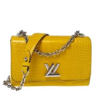 Louis Vuitton Jaune D'or Alligator Twist PM Bag