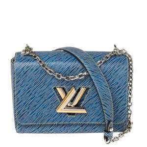Louis Vuitton Blue Epi Leather Twist MM Bag