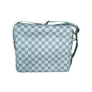 Louis Vuitton White/Grey Damier Azur Canvas Naviglio Bag