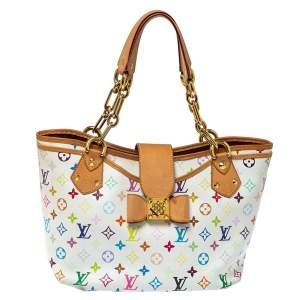 Louis Vuitton White Multicolore Monogram Canvas Annie GM Bag
