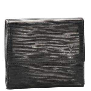 Louis Vuitton Black Epi Leather Porte Monnaie Billets Tresor Wallet
