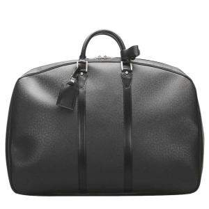 Louis Vuitton Black Taiga Leather Helanga 1 Poche Travel Bag
