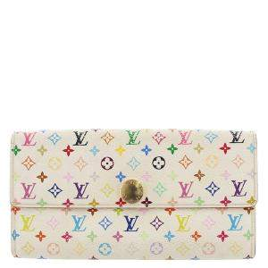 Louis Vuitton Multicolor Monogram Multicolore Canvas Sarah Wallet