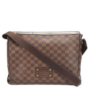 Louis Vuitton Brown Damier Ebene Canvas Brooklyn MM Bag