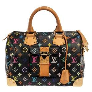 Louis Vuitton Black Monogram Multicolore Canvas Speedy 30 Bag