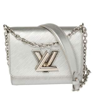 Louis Vuitton Silver Epi Leather Twist PM Bag
