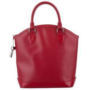 Louis Vuitton Red Epi Leather Lockit Vertical bag