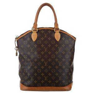 Louis Vuitton Brown Monogram Canvas Lockit Vertical Bag