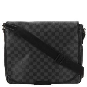 Louis Vuitton Black Damier Graphite Canvas District MM bag