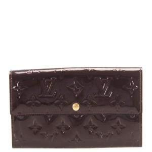 Louis Vuitton Brown Monogram Vernis Sarah Wallet