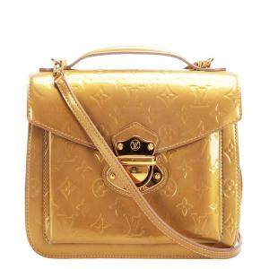 Louis Vuitton Gold Monogram Vernis Miranda Bag