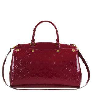 Louis Vuitton Red Monogram Vernis Brea MM bag