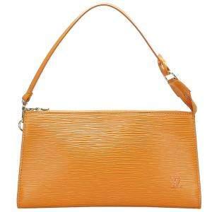 Louis Vuitton Yellow Epi Leather Pochette Accessoires Bag