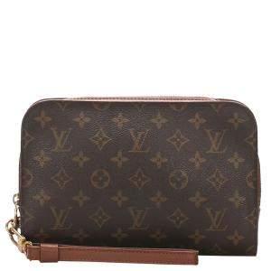 Louis Vuitton Brown Monogram Canvas Pochette Orsay Bag