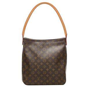 Louis Vuitton Brown Monogram Canvas Looping GM Bag