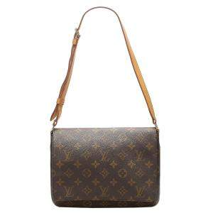 Louis Vuitton Brown Monogram Canvas Musette Tango Short Strap bag