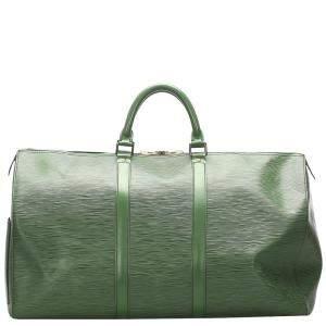 Louis Vuitton Green Epi Leather Keepall 50 Bag