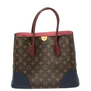 Louis Vuitton Navy/Mauve Monogram Canvas and Leather Flandrin Bag