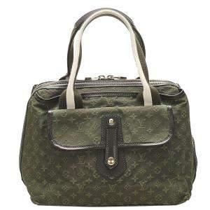 Louis Vuitton Green Monogram Mini Lin Canvas Sac Mary Kate Bag