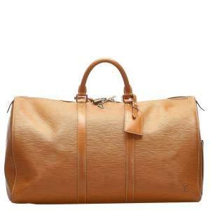 Louis Vuitton Brown Epi Leather Keepall 50 Bag