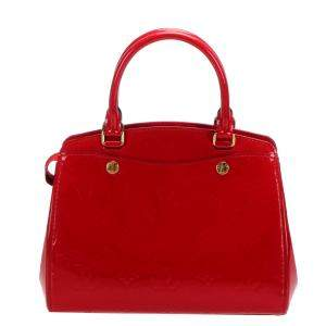 Louis Vuitton Red Monogram Vernis Brea PM Bag