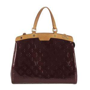 Louis Vuitton Brown Monogram Vernis Brea GM Bag